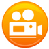 movie camera-orange